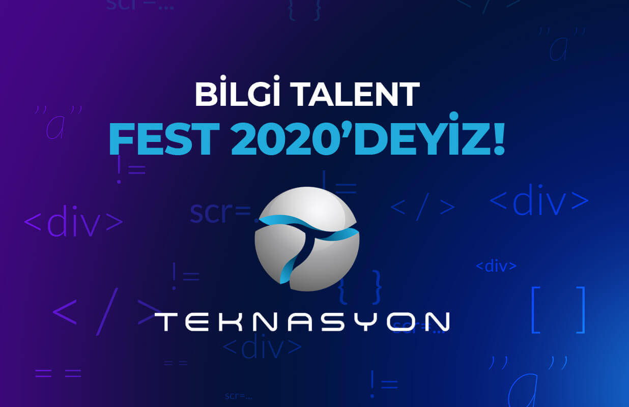 We were at BILGI Talent Fest 2020.