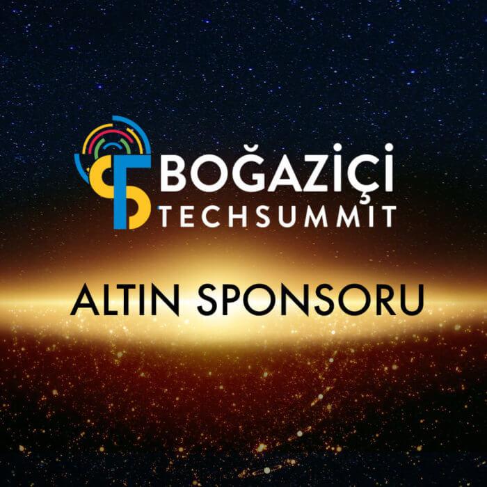 """""""Golden Sponsor"""" at Boğaziçi TechSummit!"""