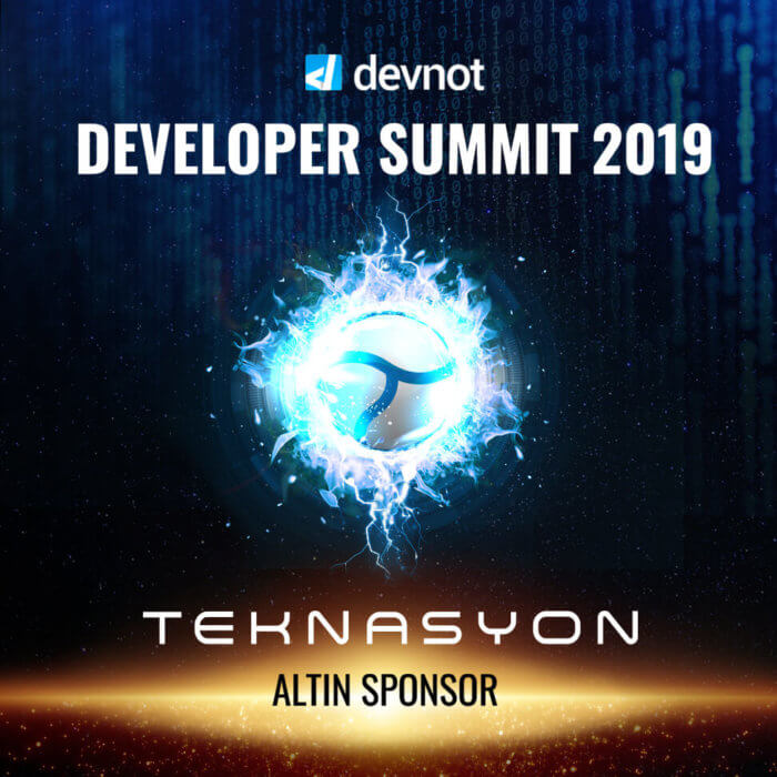 "Teknasyon is the ""Golden Sponsor"" at Developer Summit 2019!"